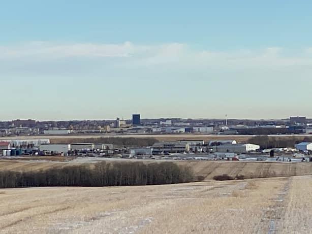 A picture of Grande Prairie Alberta in December.